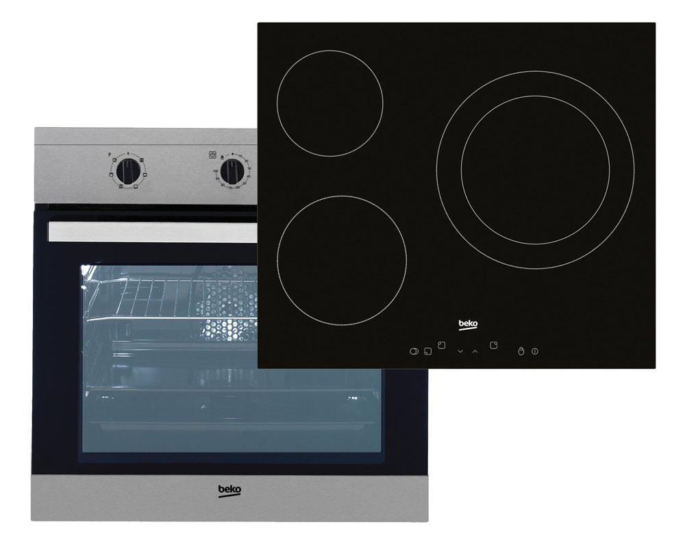 conjunto horno y placa beko OSE-22120-X