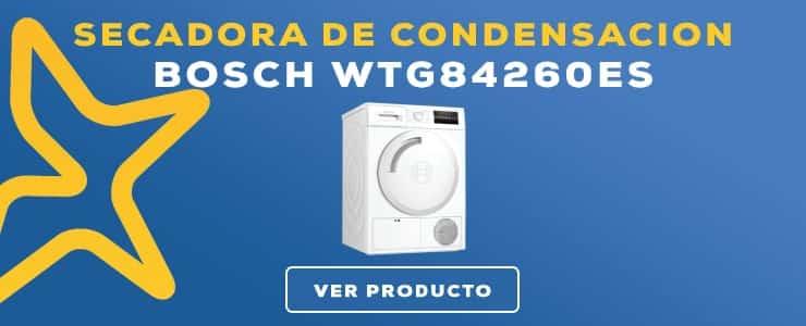 secadora de condensacion Bosch WTG84260ES