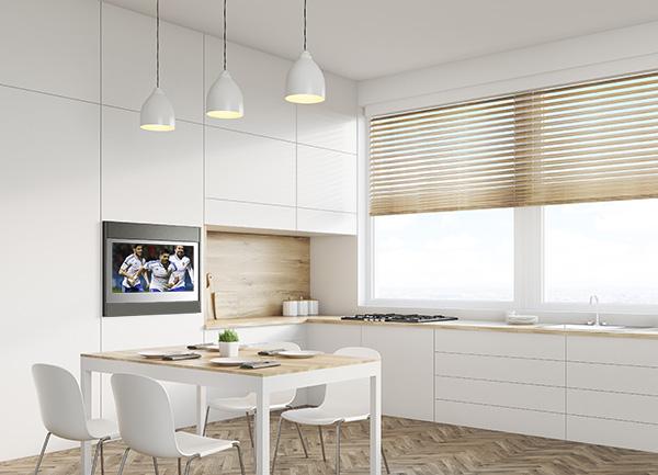 Televisi n de 22 pulgadas la opci n de tv para espacios - Television en la cocina ...