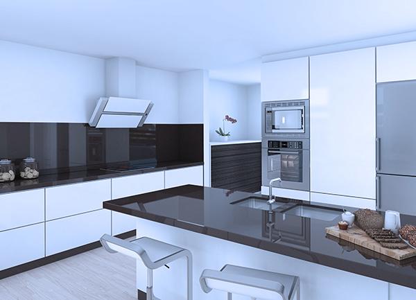 Campana extractora de cristal ventajas y desventajas de cocinar con ellas euronics - Campanas de cocina decorativas ...