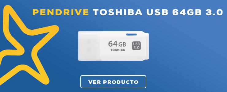 pendrive 3.0 toshiba 64gb
