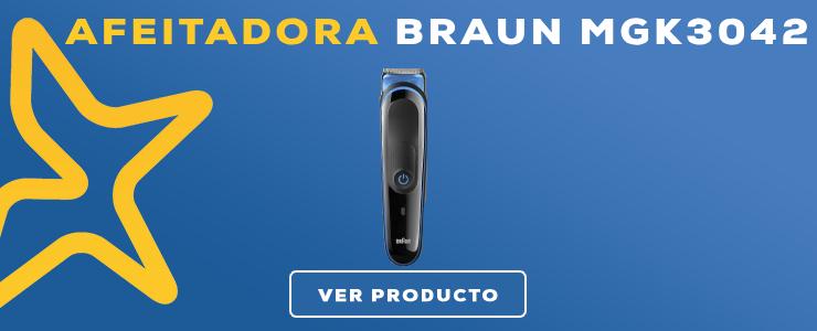 máquina para barba braun