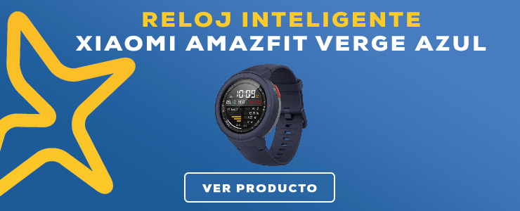 reloj inteligente xiaomi amazfit verge azul