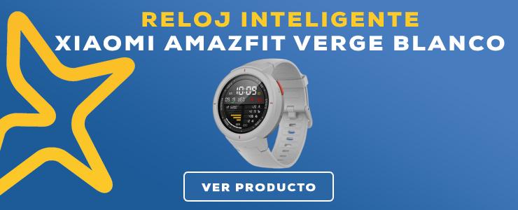 reloj inteligente xiaomi amazfit verge blanco