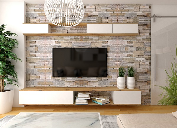 televisor en pared