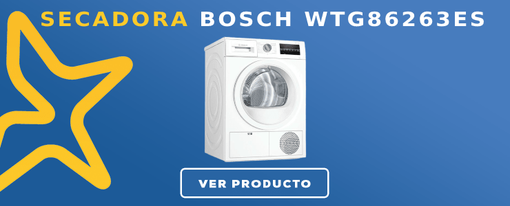 Secadora Bosch WTG86263ES