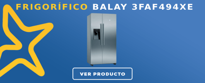 Frigorífico americano Balay 3FAF494XE