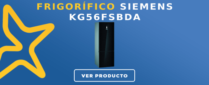 Frigorífico combi Siemens KG56FSBDA