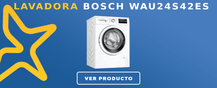 Lavadora carga frontal Bosch WAU24S42ES
