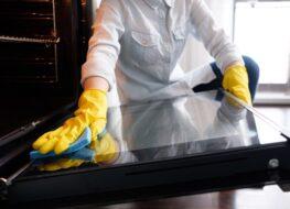 limpiar cristal horno