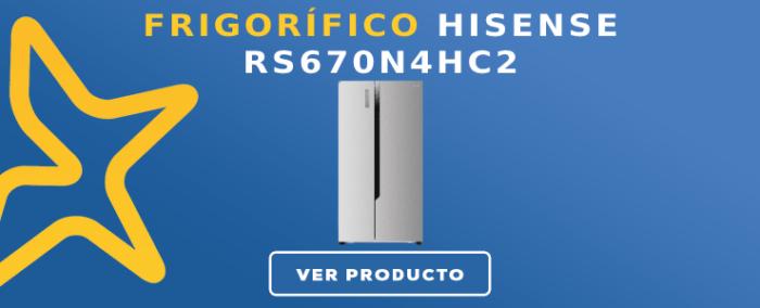 Frigorífico americano Hisense RS670N4HC2
