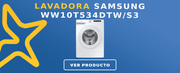 Lavadora carga frontal Samsung WW10T534DTWS3