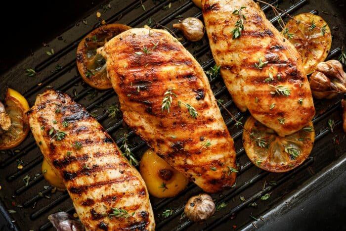 grill con placas