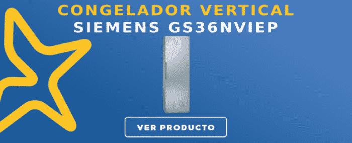 congelador vertical Siemens GS36NVIEP