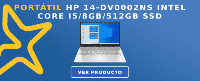 Portátil HP 14-DV0002NS Intel Core i5/8GB/512GB SSD