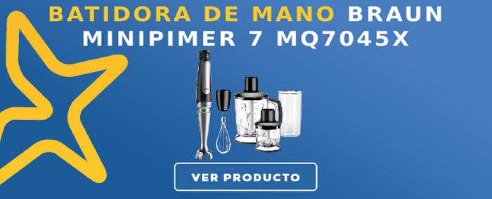 Batidora de mano Braun Minipimer 7 MQ7045X