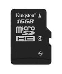 Tarjeta MicroSD Kingston 16GB CLASE 4