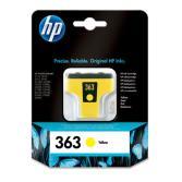 Cartucho tinta HP Nº 363 Amarillo