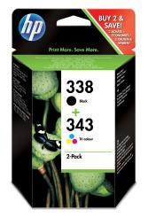 Pack Cartucho tintas HP Nº 338/343