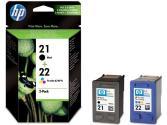 Pack Cartucho tintas HP Nº 21/22