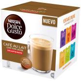Cápsulas Dolce Gusto Cafe con Leche Descafeinado 16 unidades