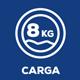 Capacidad de carga (Kg) 8